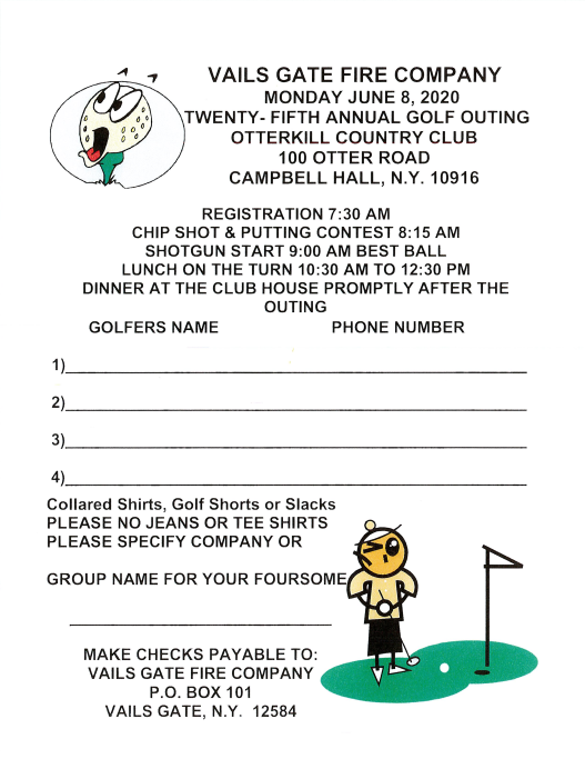 Golf Outing Team Sign Up