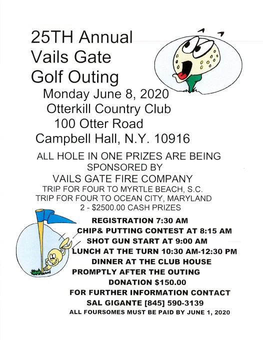 Golf Outing Information